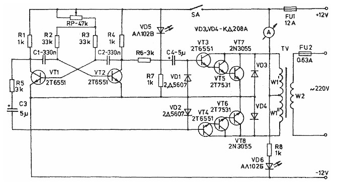 1000w inverter circuit diagram timer diagram
