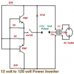 15W inverter circuit 12vdc to 120vac