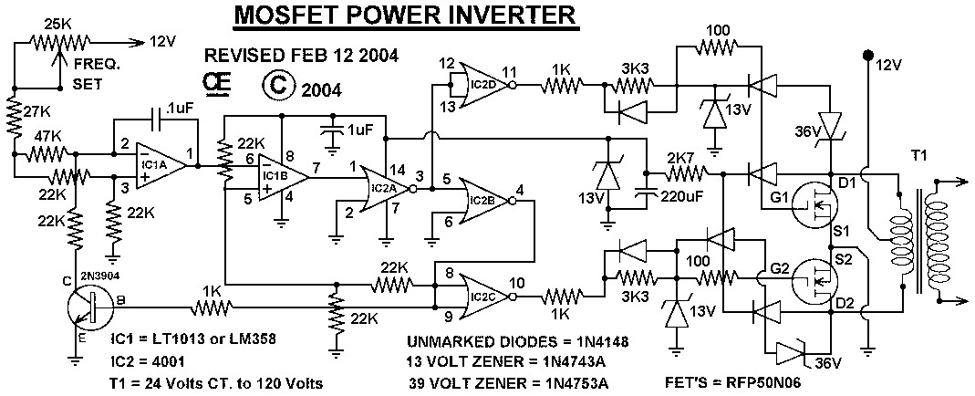 inverter circuit diagram 2000w the wiring diagram mosfet power inverter 500w using rfp50n06 inverter circuit and wiring diagram