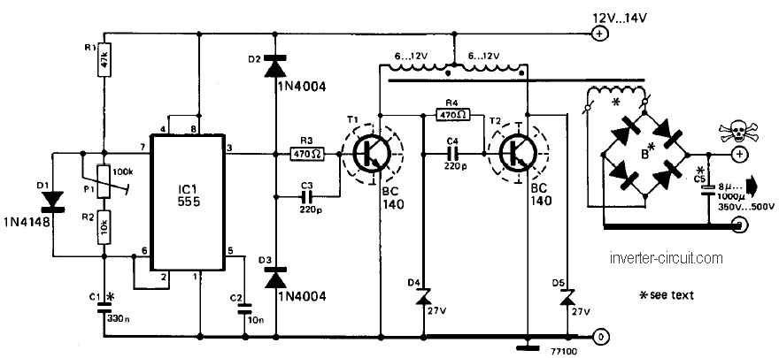 2n3055 inverter circuit diagram