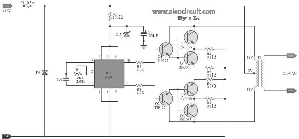 dc to ac inverter schematic diagram get free image about wiring diagram