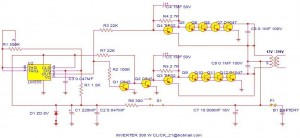 300W Power Inverter Circuit