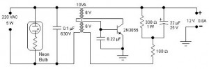 5W Inverter Circuit for Neon Bulb