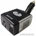 Bestek cheap inverter 75 Watt 12VDC to 110vAC