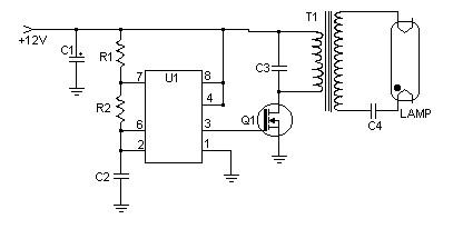 4w12v Fluorescent Lamp Driver